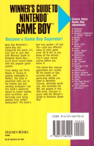 Winners Guide Game Boy - Rückseite