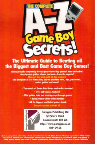 A-Z Game Boy Secrets Back
