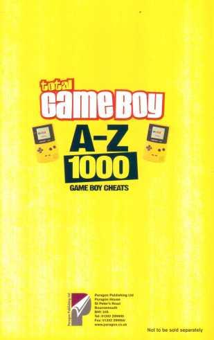 Giant A-Z Cheats Book Back