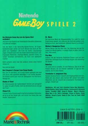 Gameboy Spiele 2 Rückseite