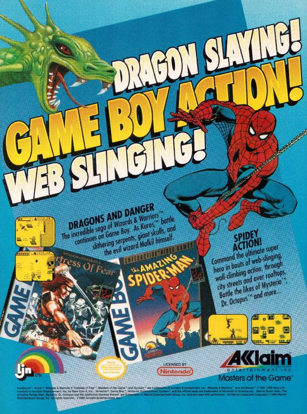 Werbung Fortress of Fear und Spider-Man