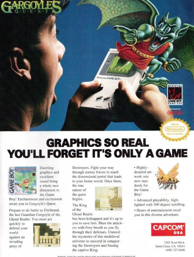 Werbung Gargoyles Quest