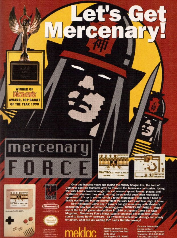 Werbung Mercenary Force