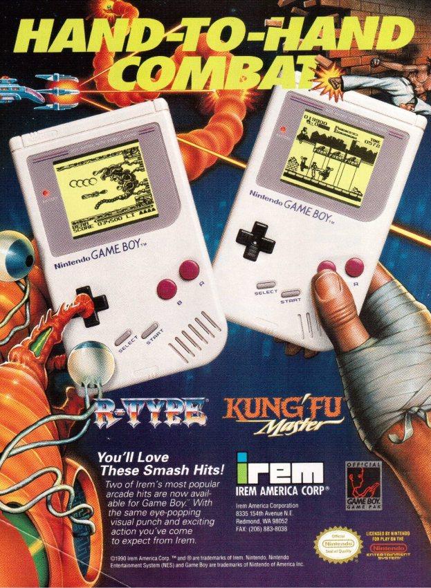 Werbung R-Type und Kung-Fu Master