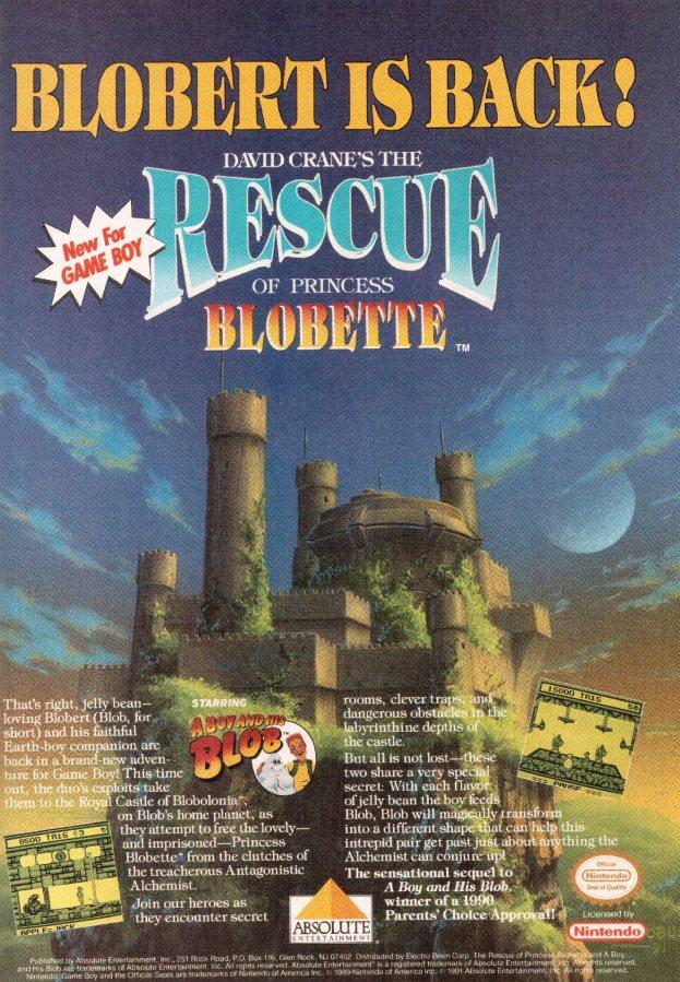 Werbung Rescue of Princess Blobette