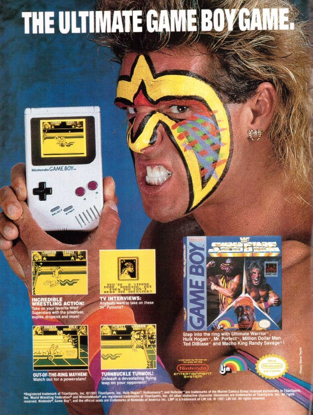 Werbung WWF Superstars
