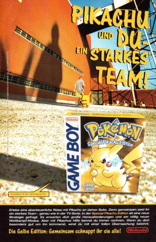 Werbung Pokemon gelbe Edition