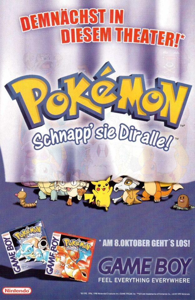 Werbung Pokemon rote und blaue Edition 1