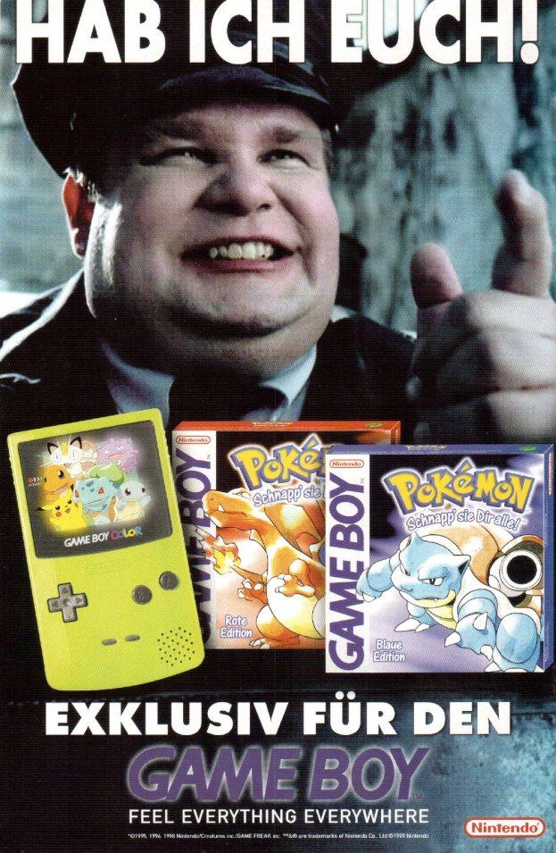 Werbung Pokemon rote und blaue Edition 2