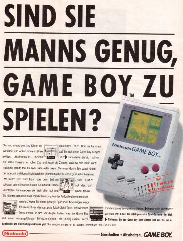 Sind Sie manns genug Game Boy zu spielen