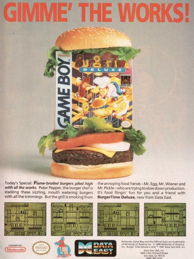 Werbung Burgertime Deluxe