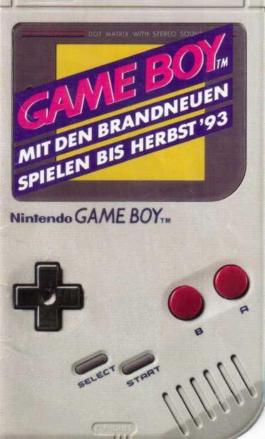 GB brandneue Spiele bis Herbst 93-1