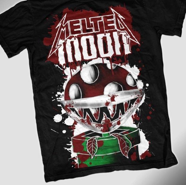 Gewinnspielprämie Melted Moon Shirt Piranha-Pflanze