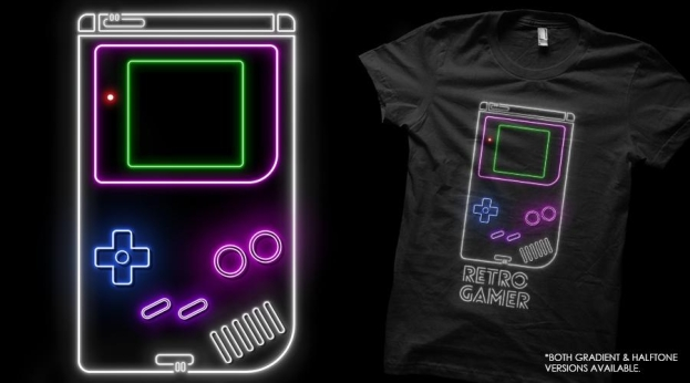 Qwertee Retro Gamer Shirt