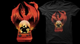 Qwertee The Fire Monster