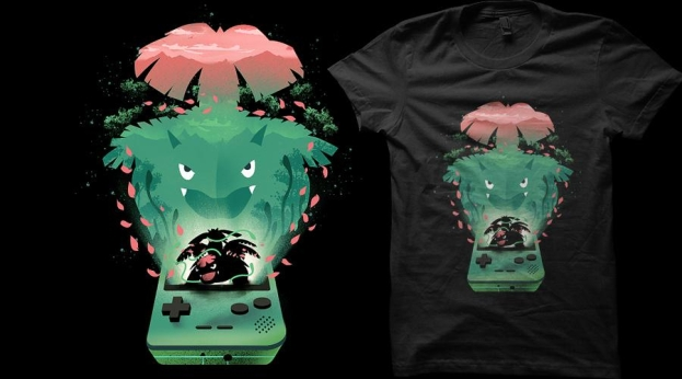 Qwertee The Grass Monster
