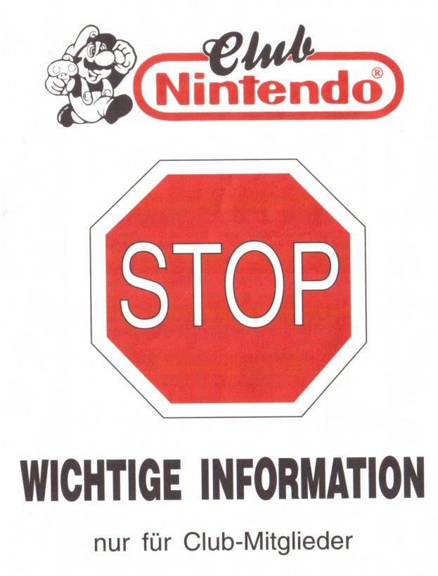 Nintendo Club Magazin Gutscheinbogen