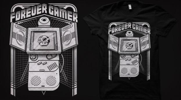 Qwertee Forever Gamer Portable