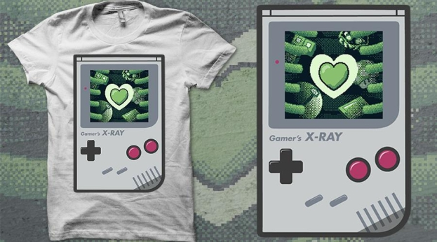 Qwertee Gamers X-Ray