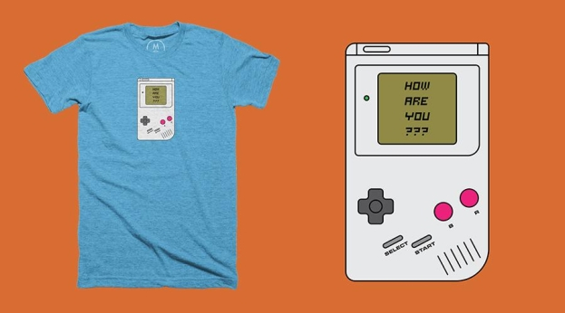 Qwertee Nostalgia Game Boy