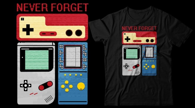 Qwertee Never forget Retro Games