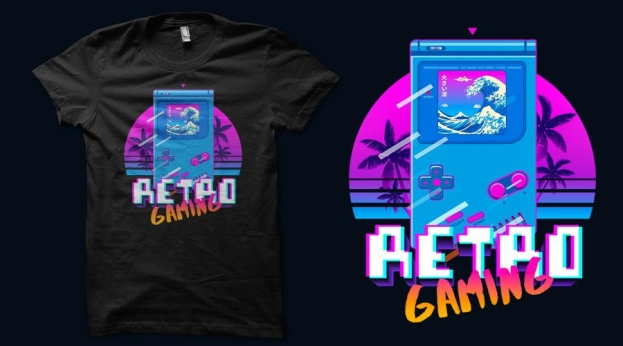 Qwertee GBA Retro Game